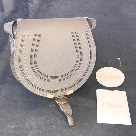 e8cdd458 Chloe Marcie Small Cashmere Grey Crossbody